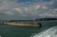 Dover harbour wall