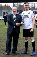 Danny Harris receives 300 appearance award from Co-Chairman Steve Irving