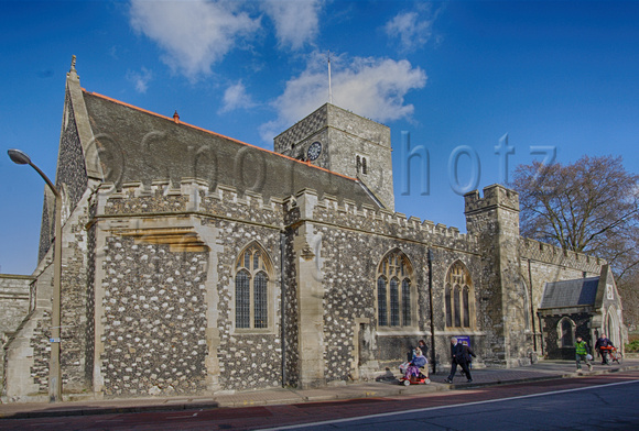 Holy Trinity Church Dartford's parish church, which dominates the High Street, was built by Bishop Gundulf c.1080.