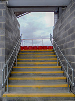 Up the stairs to the new seating. Ebbsfleet United v Dartford