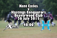 Kent Exiles v Hastings Conquerors